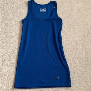 Under armour fitted tank top (blue)